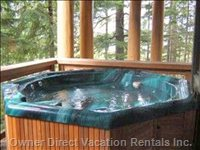 Private Hot Tub on Private Deck