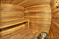 Big Cedar Sauna - Relax with the Dry Heat Or Make it Steamy.
