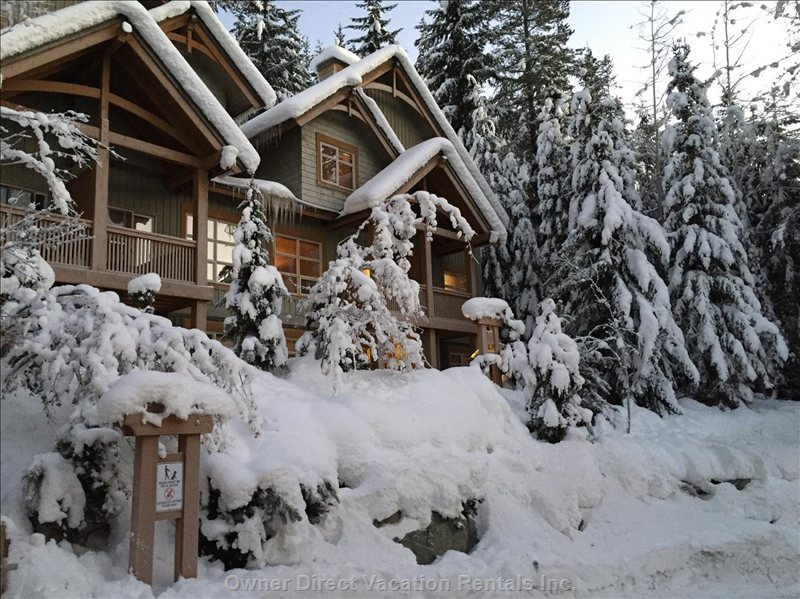 Ski in / ski out Whistler townhome, private hot tub, sleeps 6-8, fabulous views! Photo credit: #207607