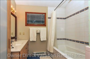 Bathroom with Soaker Tub and Heated Floors