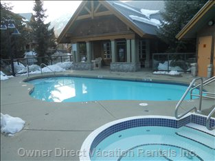 All Year-round Heated Pool and Hot Tub