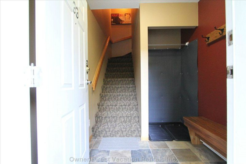 Mud Room with Ski Storage