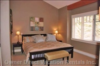 Master Bedroom has King-size Bed