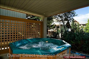 The Deck has a Private Hot Tub with Views Or Whistler & Blackcomb Mountains, this Home Also has a BB