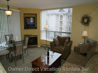 Living Room - Hosts a Club Chair and Queen Size Sofa-bed with a High Grade Comfortable Mattress