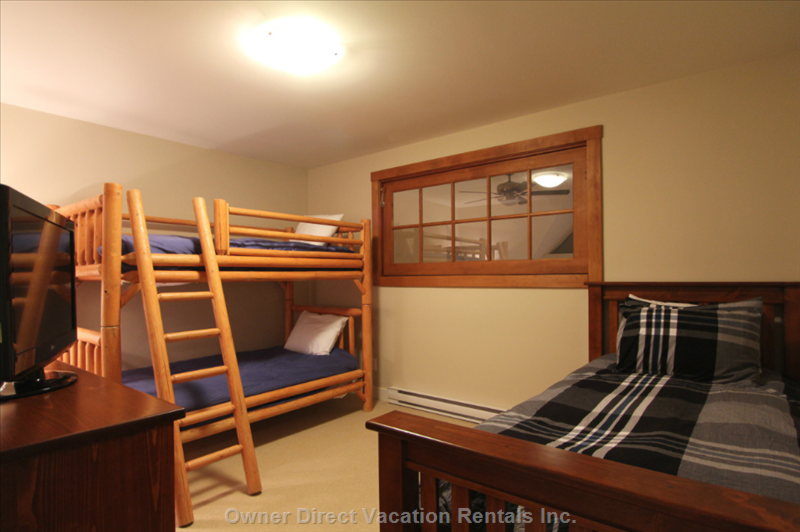 Loft with Twin Bunks and a Twin Trundle Bed