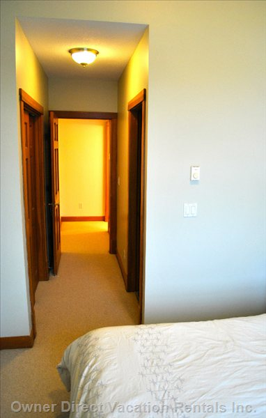 Roomy Master Bedroom Comes with Ample Storage in Double Closet and Ensuite Bathroom.