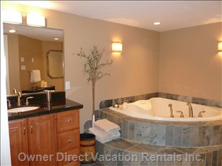 Relax in a Wonderful Jacuzzi Tub for Two. Lower Level