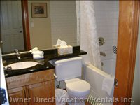 Full Bath with Granite Counters
