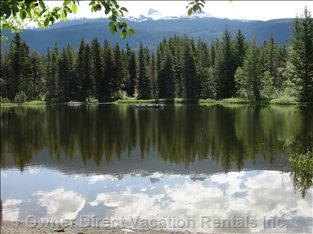 Private Pinecrest Lake with Black Tusk View - a few Minutes Walk from Chalet.