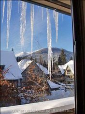 Icicles and View from Bedroom #1.