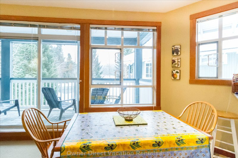 Dining Area with Glorious Views of Blackcomb Mountain!