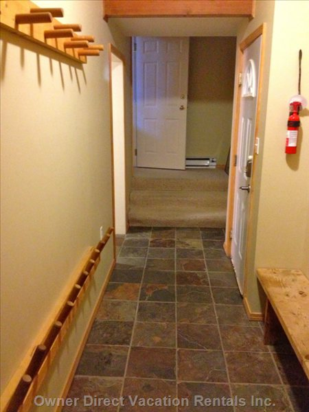 Carport Entry Way and Mud Room.
