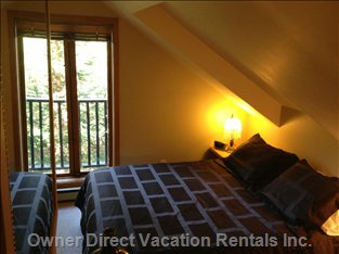 The Secluded Loft Bedroom has Ensuite and Juliet Balcony.