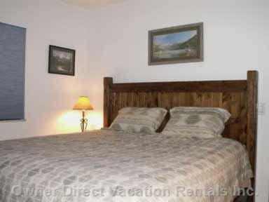 Master Bedroom:  King Size Bed