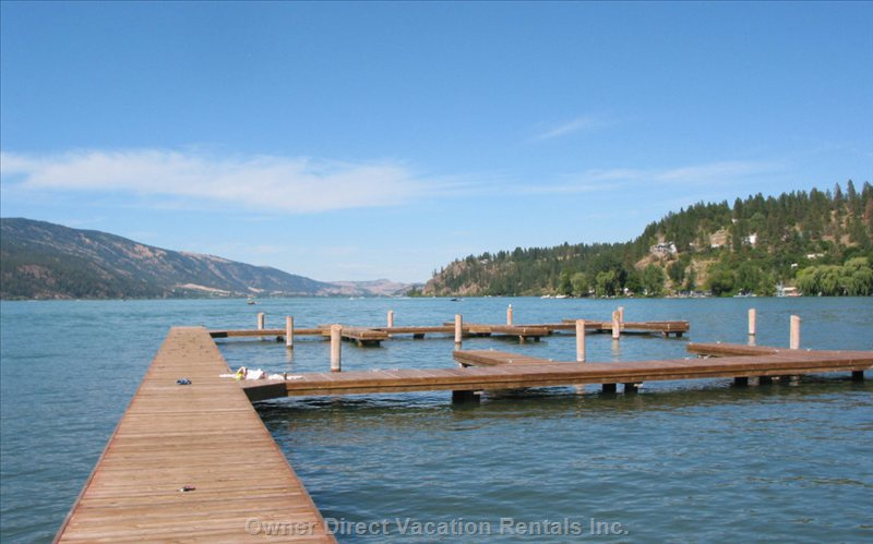 Private Dock and Boat Slip, Fantastic Lake