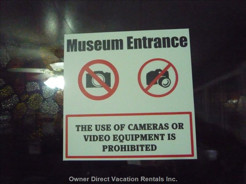 Sign on Museum Tour Entrance