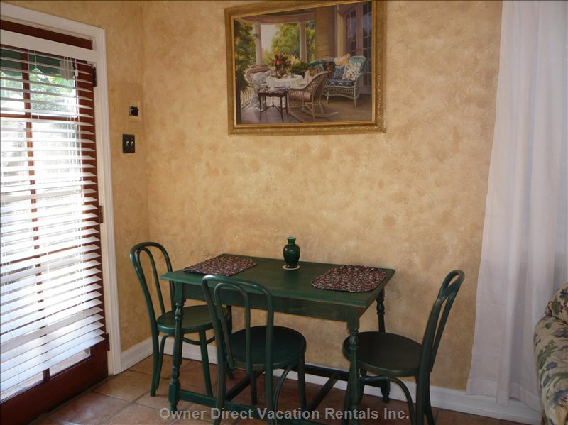 French Doors Entrance and Kitchen Table