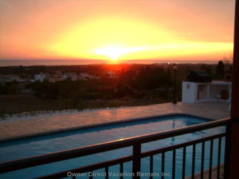 Sunsets over Villa Hieros Kepos