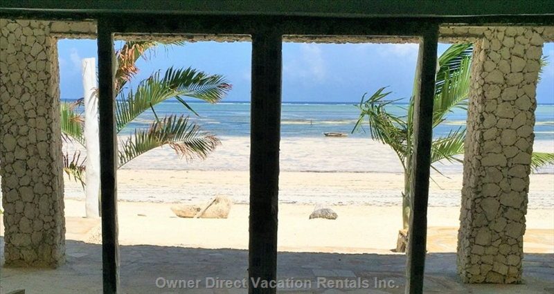 View from the Sliding Doors to the Beach