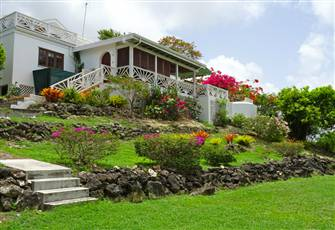 A Lovely House Facing West, Overlooking the Caribbean Sea