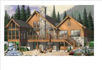 Rustic Elegance in an Asheville, Nc Custom Built Mountain Home