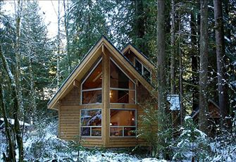 A Pet-Friendly Cedar Cabin with a Private Outdoor Hot Tub!
