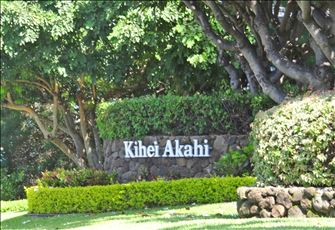 Building Signage on South Kihei Road, Facing Northerly Direction