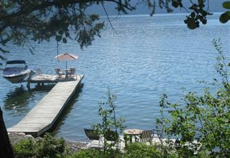 Quiet Private Single Family  Lakefront Cabin on West Side of Okanagan Lake