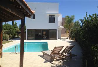 Villa with Private Pool in Mazotos Cyprus Located 4 Km from the Sea.