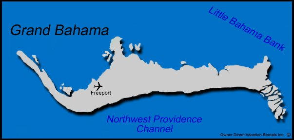 Map of Grand Bahamas Vacation Rentals
