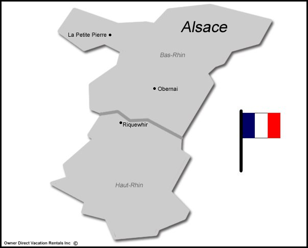 Map of Alsace Vacation Rentals
