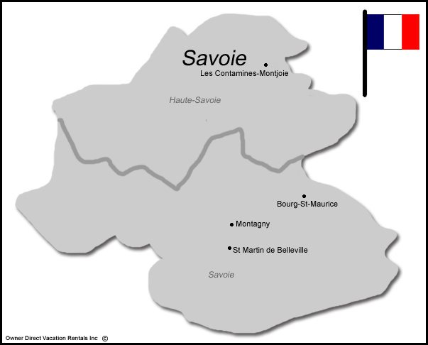 Map of Savoie Vacation Rentals