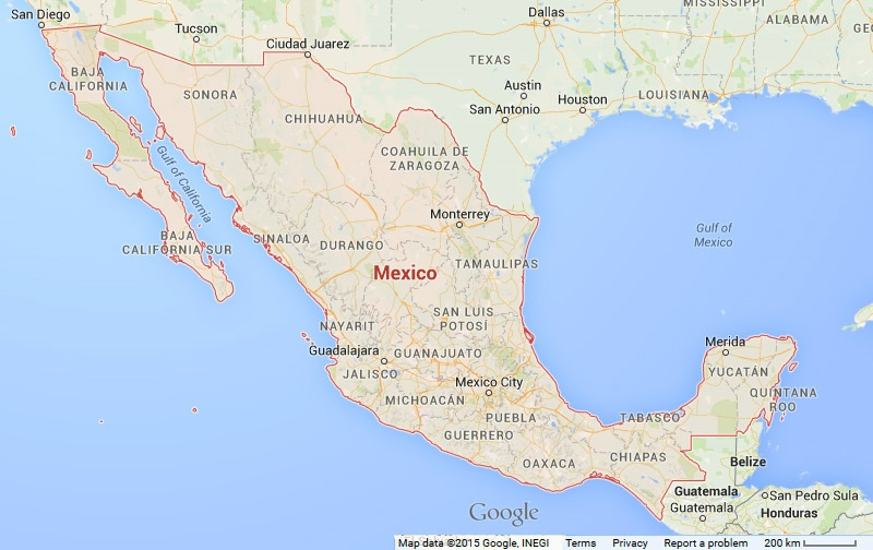Map of Mexico Vacation Rentals