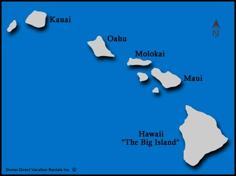 Map of Hawaii Vacation Rentals - Map of the Hawaiian Islands