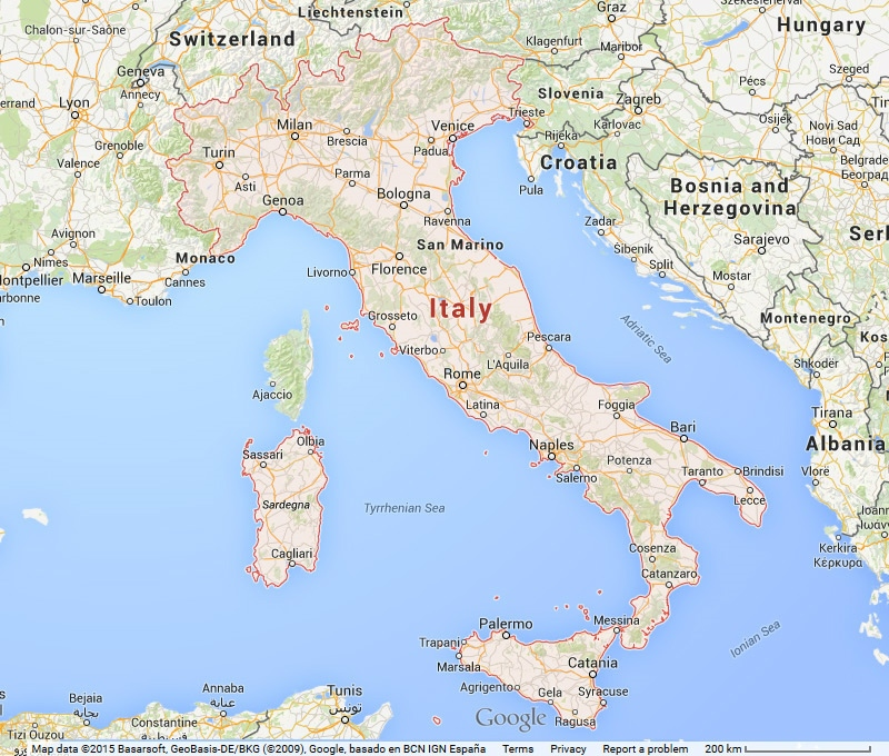 Map of Italy Vacation Rentals