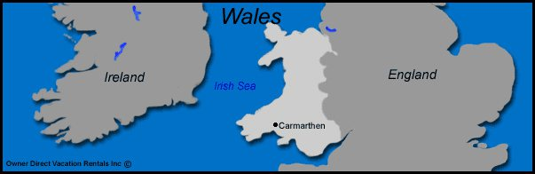 Map of Wales Vacation Rentals
