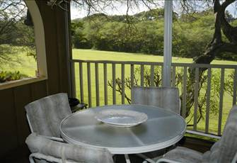 One bedroom, 2 bath poroperty on the 18th fairway