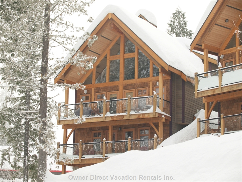 One of five beautiful luxury homes that offer a true ski in – ski out experience at Red Resort