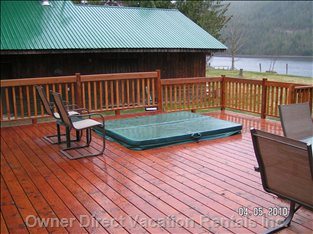 Front Deck and Hot Tub