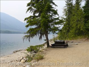 Beach up the Lake - one of many Sandy Beaches and Picnic Areas a Short Boat Ride Away.