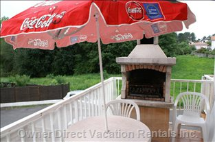 Balcony  - with Barbecue and Garden Furniture
