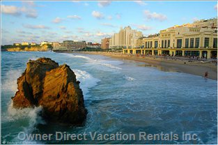 Main Beach -  in Biarritz Town Center