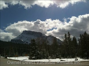 Coming into Town / MT. Rundle Banff National Park