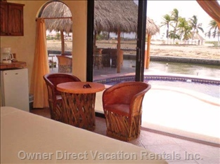 View from Bedroom to Palapa