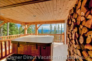 Hot Tub on Upper Deck
