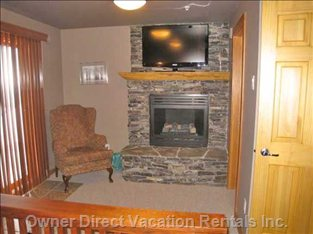 Fireplace & TV in Master Bedroom