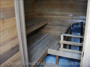 Main Level Private Dry Sauna - the Main Level Bath Also Features a Private Dry Sauna for you Enjoyment.