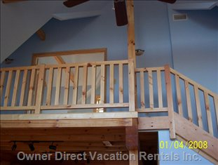 Loft Area/Master Bedroom - Relax and Enjoy Privacy in the Loft Area.  a Private Balcony (6' X 12') with more Spectacular Views Complements this Master Bedroom Space.