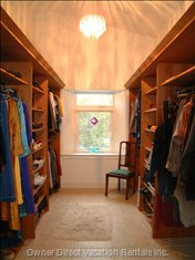 From the Master Bedroom into the Walk-in Closet. Lots of Hanging and Shelf Space, and a Full Length Mirror.